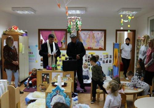 Posjet i blagoslov don Bernarda Pleše Dječjem vrtiću Župa dubrovačka